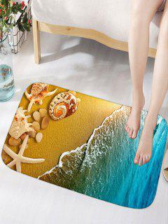 Alfombra Antideslizante Conch Flannel - Azul Amarillo W16pulgadas*l24pulgadas