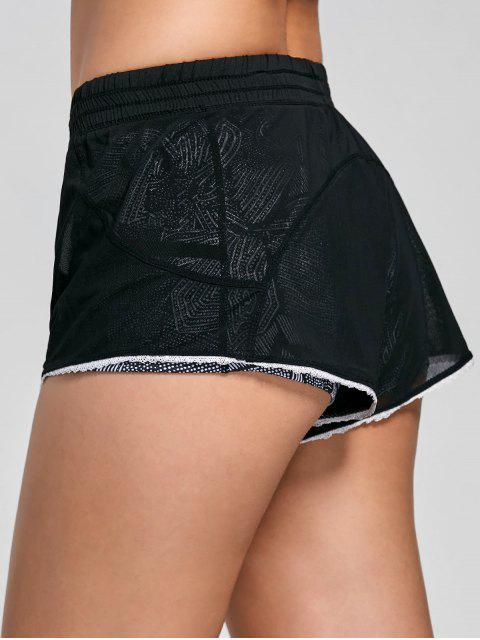 online Mesh Layered Running Shorts - BLACK XL Mobile