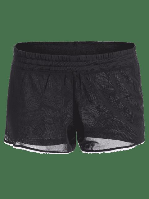 Short Shorts en Mesh - Noir S Mobile