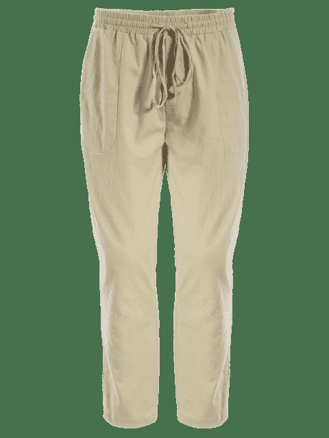 hot Mens Drawstring Joggers Pants - KHAKI 3XL Mobile