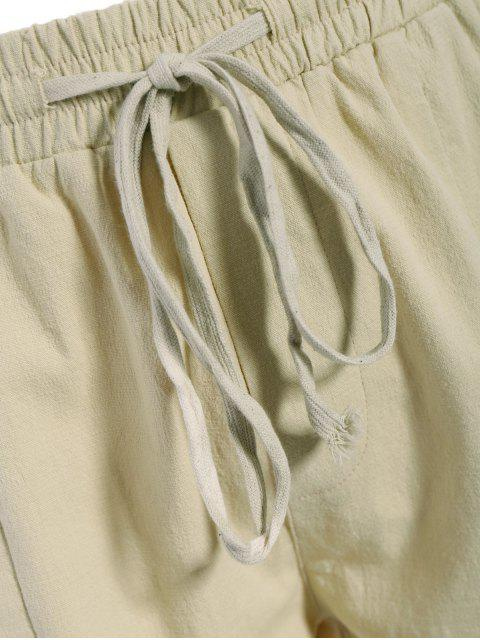 outfits Mens Drawstring Joggers Pants - KHAKI XL Mobile