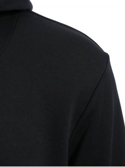 unique Mens Front Pocket Oversized Pullover Hoodie - BLACK 4XL Mobile