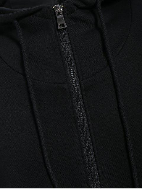 sale Mens Front Pocket Oversized Pullover Hoodie - BLACK 3XL Mobile