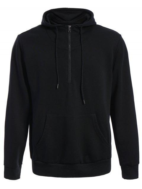 Sudadera con capucha extragrande de bolsillo delantero para hombre - Negro L Mobile