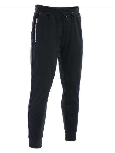 Zip Pockets Mens Joggers Sweatpants - Noir 3XL Mobile
