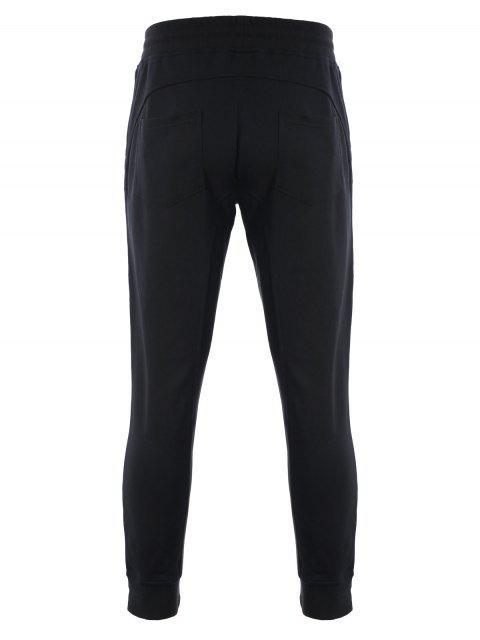 shop Zip Pockets Mens Joggers Sweatpants - BLACK XL Mobile