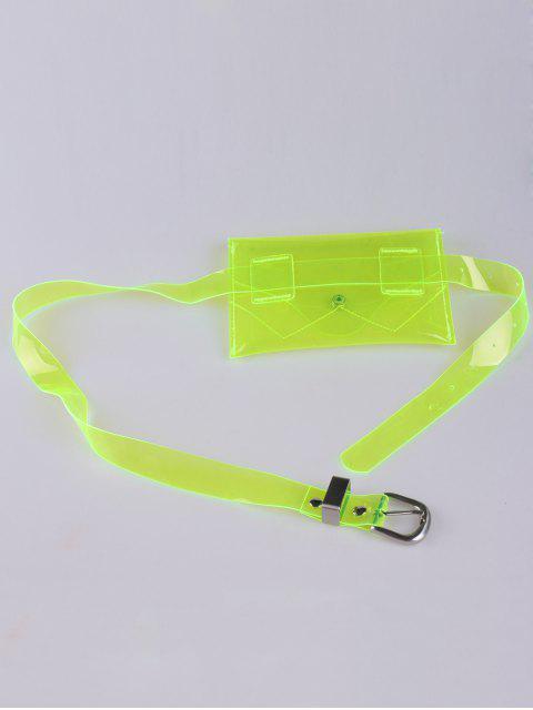 best Jelly Color Portable Waist Belt Bag - NEON GREEN  Mobile