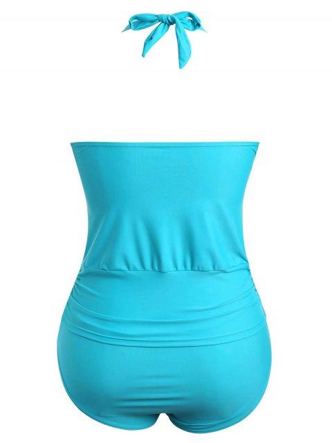 Combinaison de bain Halter Tankini Plus Size - Pers XL Mobile