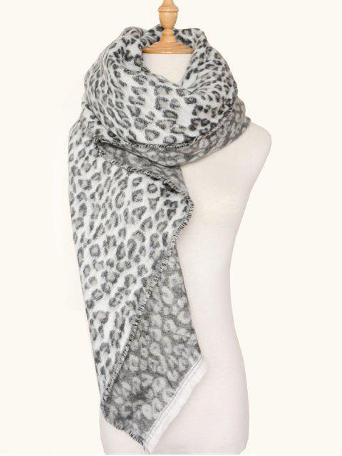 Echarpe chaude mélangée au lustre en laine carrée et léopard - Texture de Léopard  Mobile