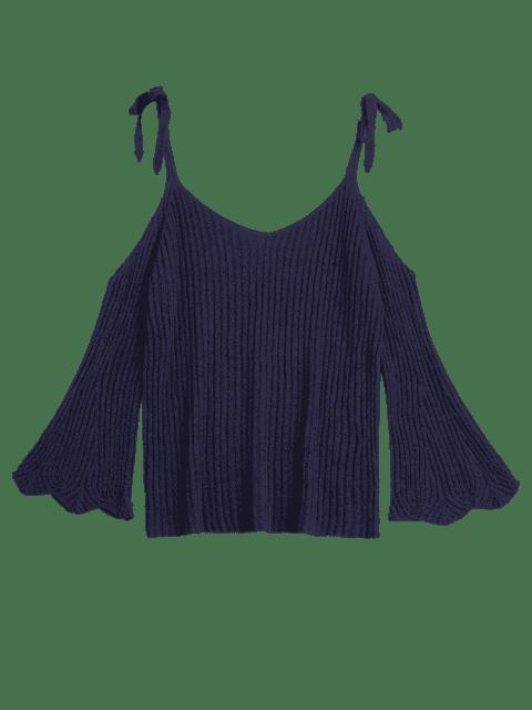 Haut d'épaule à frire en tricot - Bleu Violet TAILLE MOYENNE Mobile