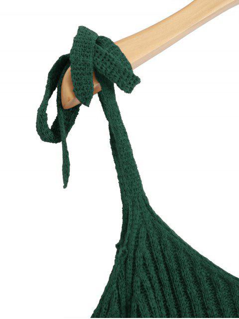 Haut d'épaule à frire en tricot - Vert Foncé TAILLE MOYENNE Mobile