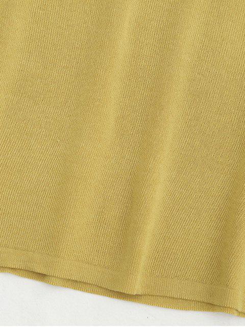 Tricotée à manches courtes à manches courtes - Jaune TAILLE MOYENNE Mobile
