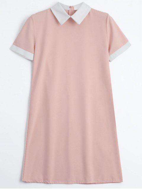 Robe mi-longue à dos avec fermeture à glissière - ROSE PÂLE M Mobile