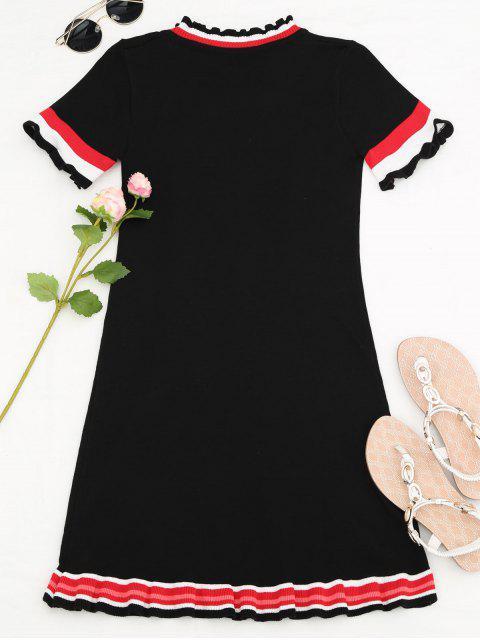 Mini robe brodée brodée - Noir TAILLE MOYENNE Mobile