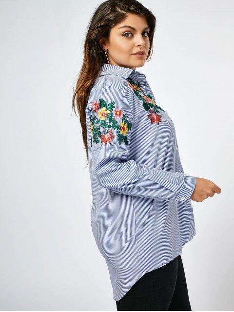 Chemise imprimée à motifs florales rayés - Rayure 3XL Mobile