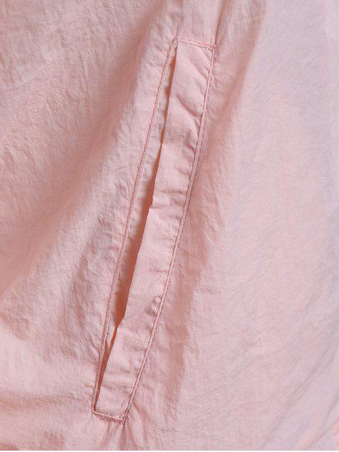 Veste en tulle brodée à motifs floraux - ROSE PÂLE XL Mobile