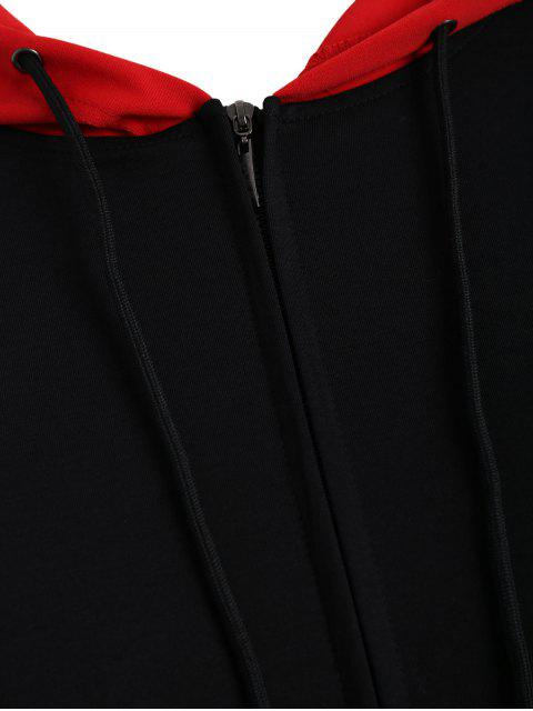 Sweat à capuche patriotique américain avec taille grand - Noir 2XL Mobile