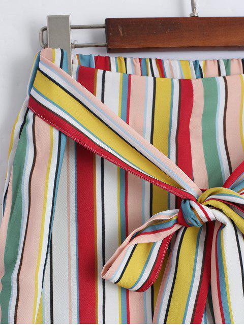 Autocollant Striped Capri Gaucho Pants - Rayure L Mobile