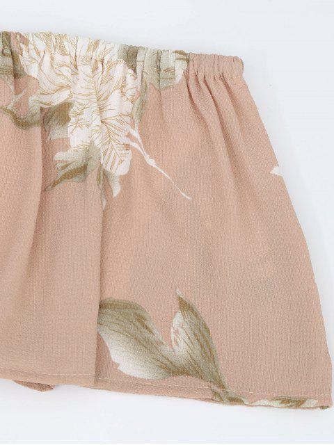 Pantalon à rayures larges en caoutchouc - Floral S Mobile