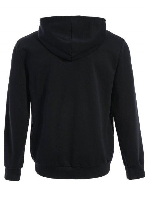 trendy Puppy Graphic Mens Oversized Hoodie - BLACK 3XL Mobile