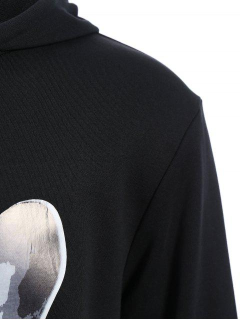 affordable Puppy Graphic Mens Oversized Hoodie - BLACK L Mobile