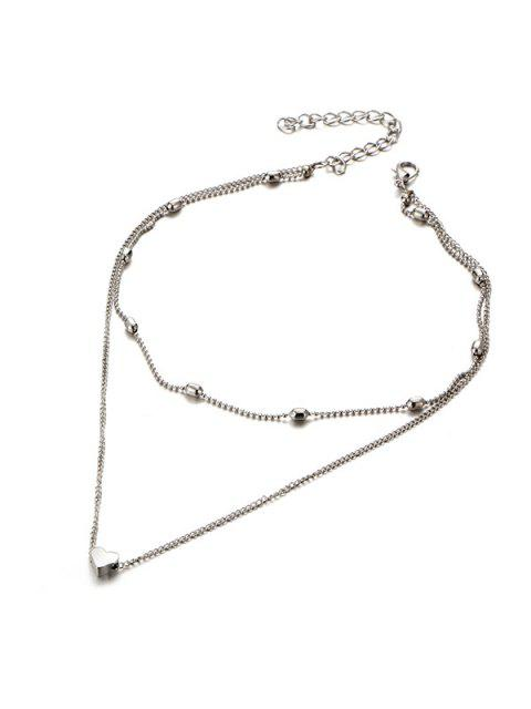 outfits Heart Collarbone Layered Necklace - SILVER  Mobile