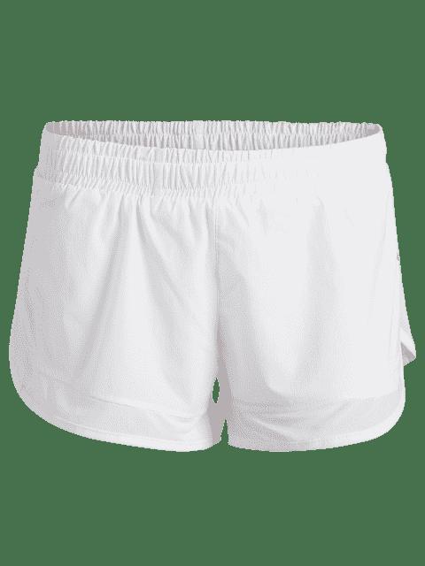 Shorts de course à double couche mous - Blanc M Mobile