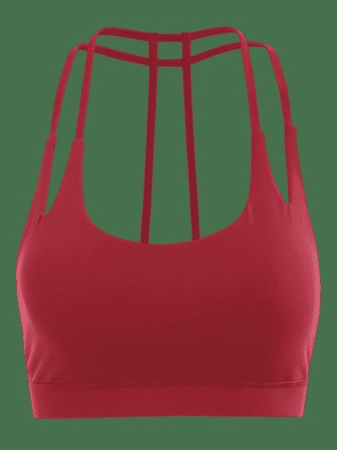Soutien-gorge sportif rapide à sec - Rouge S Mobile