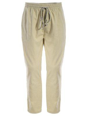 Pantalones Para Hombres Con Tirantes De Cordón - Caqui 5xl