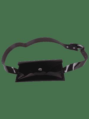Bolsa De Cinturón De Color De Jalea Portátil - Negro