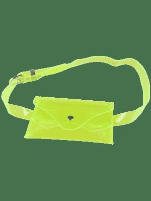 Bolsa De Cinturón De Color De Jalea Portátil - Verde De Neón