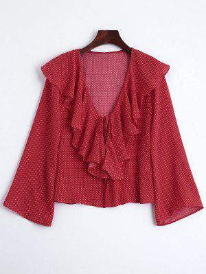 Blusa Blusa De Ruffles - Vermelho L