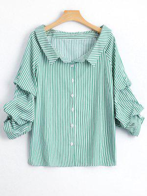 Chemise à Rayures à Poil à Manches Longues - Rayure S