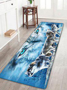 الذئب طباعة الفانيلا سكيدبروف منطقة البساط - أزرق W16 بوصة * L47 بوصة