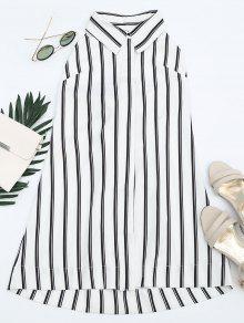 Bowknot Stripes Cut Out Tunic Dress - Stripe M