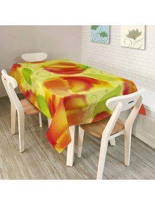 مطبخ الديكور قابل للغسل النسيج غطاء الطاولة - W60 بوصة * L84 بوصة