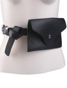 حقيبة حزام الخصر بجلد صناعي - أسود