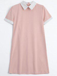 Robe Mi-longue à Dos Avec Fermeture à Glissière - Rose PÂle M