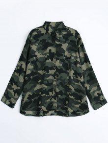 Chemise Camouflage Comfortable Lâche - Camouflage Acu L