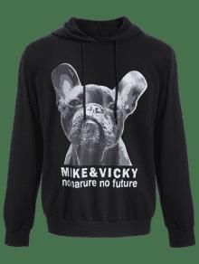 Oversized Hoodie Mens Graphic Negro Puppy 2xl q0Ug6En