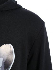 Oversized 2xl Hoodie Puppy Mens Graphic Negro vOPBEq