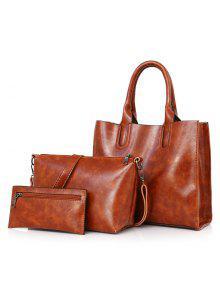 حقيبة جلد صناعي 3 قطع -