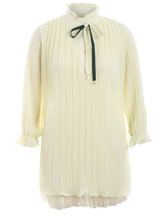 Vestito da piegare di formato più di Bow Tie - Giallo Chiaro XL