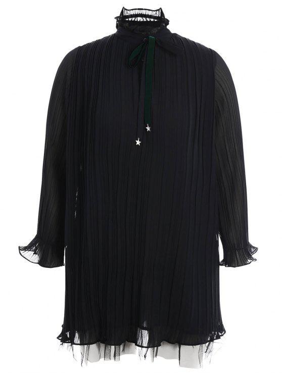 Robe à volants - Noir 3XL