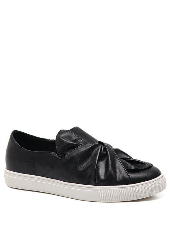 Zapatos planos de piel de imitación - Negro 40