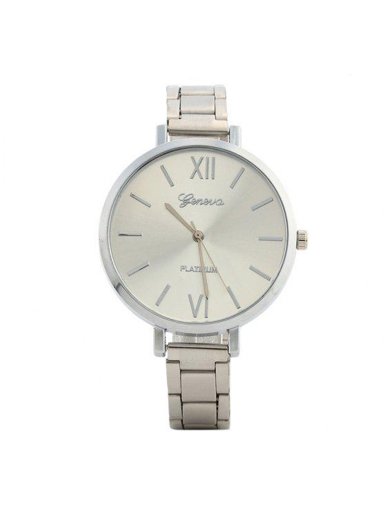 new Alloy Strap Roman Numerals Watch - SILVER