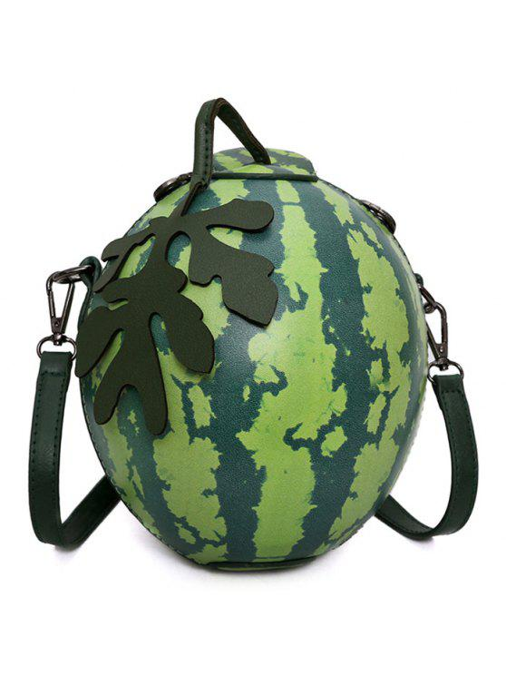 latest Funny Watermelon Shaped Crossbody Bag - GREEN