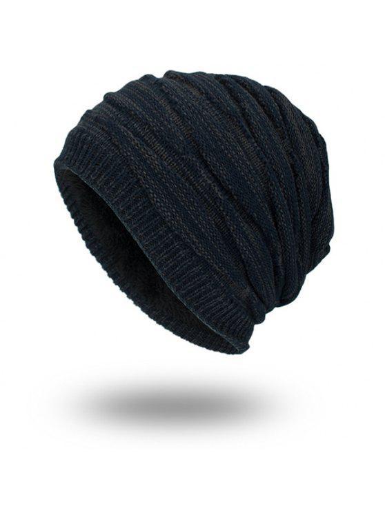 بطانة المخملية بطانة محبوك قبعة صغيرة - الأرجواني الأزرق