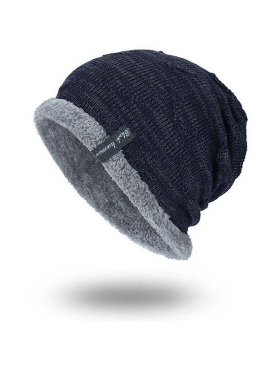 الحياكة المخملية بطانة قبعة قبعة صغيرة - الأرجواني الأزرق