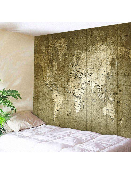 Vintage world map wall hanging tapestry bronze wall art w71 inch best vintage world map wall hanging tapestry bronze w71 inch l91 inch gumiabroncs Gallery